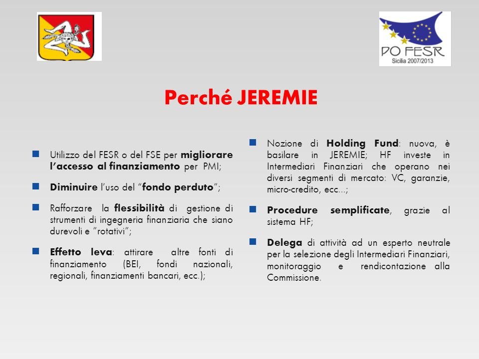 Perché JEREMIE