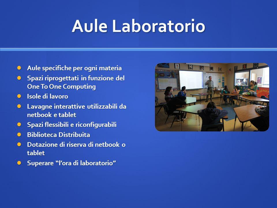Aule Laboratorio Aule specifiche per ogni materia