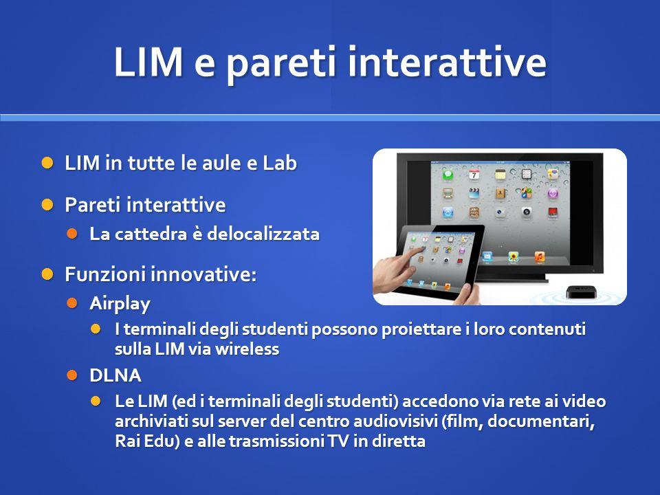LIM e pareti interattive