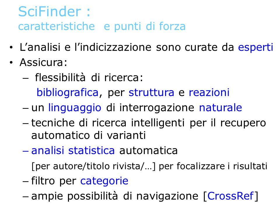 SciFinder : caratteristiche e punti di forza