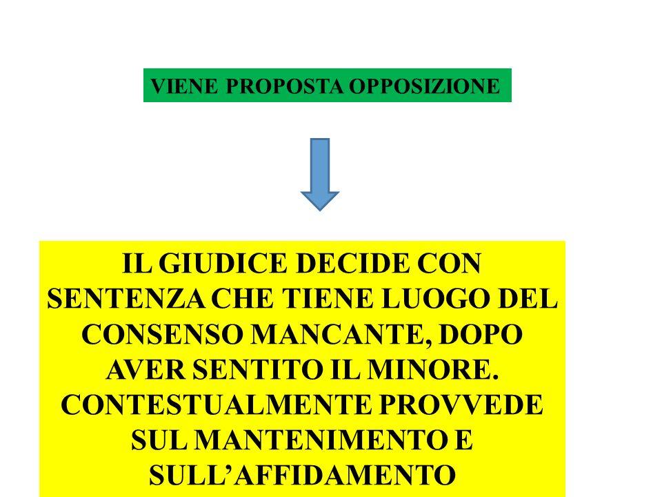 CONTESTUALMENTE PROVVEDE SUL MANTENIMENTO E SULL'AFFIDAMENTO