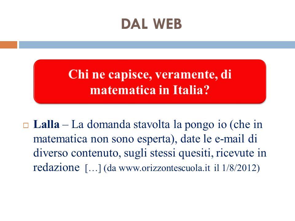 Chi ne capisce, veramente, di matematica in Italia
