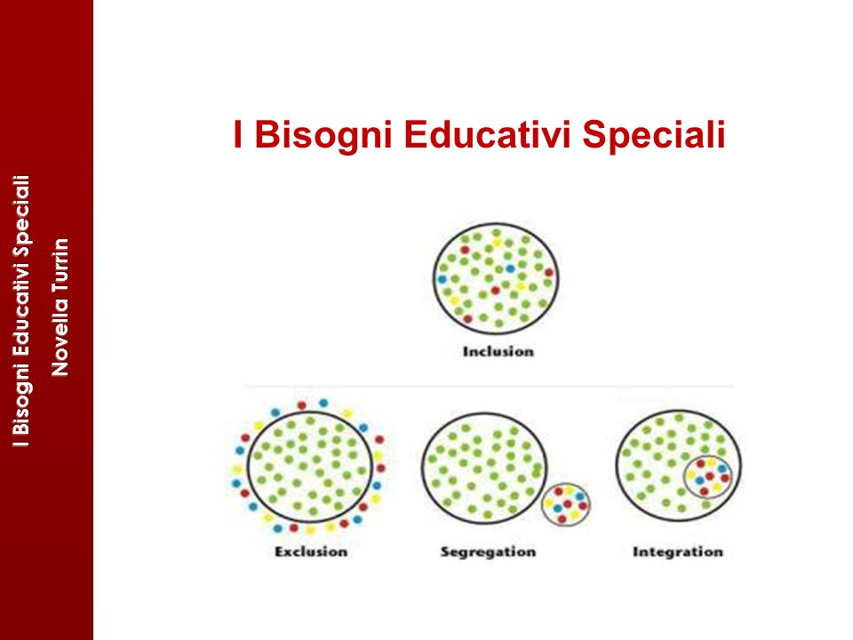 I Bisogni Educativi Speciali I Bisogni Educativi Speciali