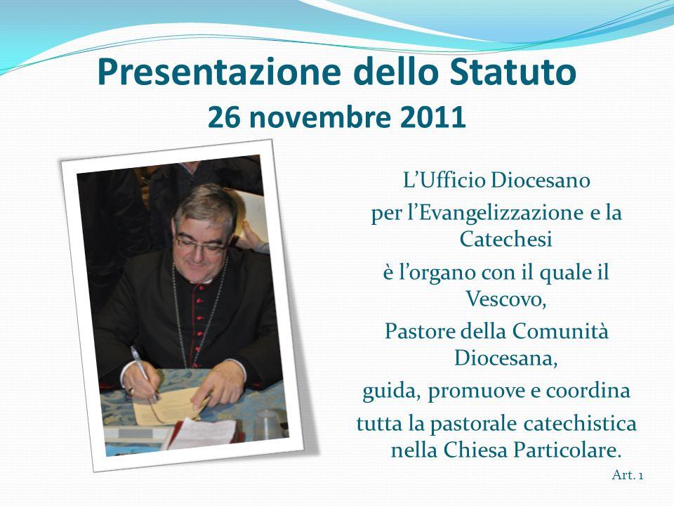 Presentazione dello Statuto 26 novembre 2011