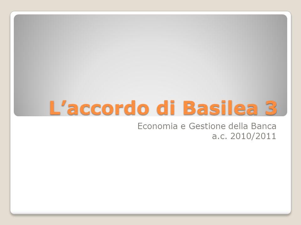 Economia e Gestione della Banca a.c. 2010/2011
