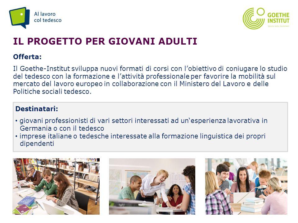Il progetto Per giovani adulti