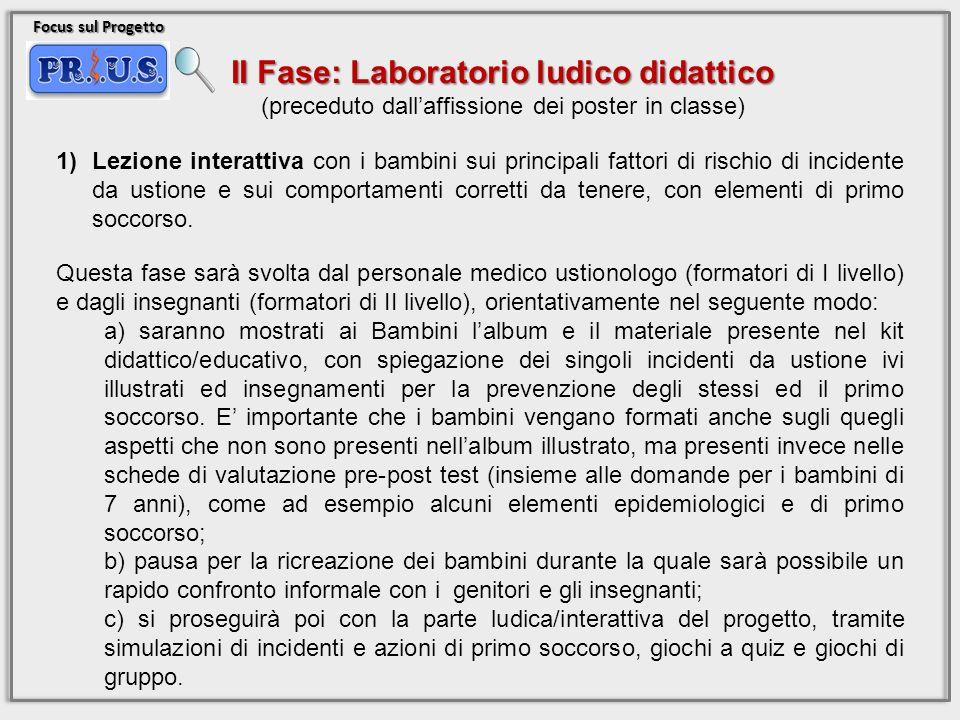 II Fase: Laboratorio ludico didattico