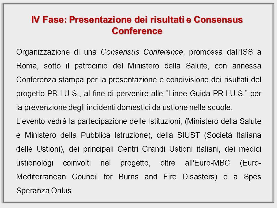 IV Fase: Presentazione dei risultati e Consensus Conference