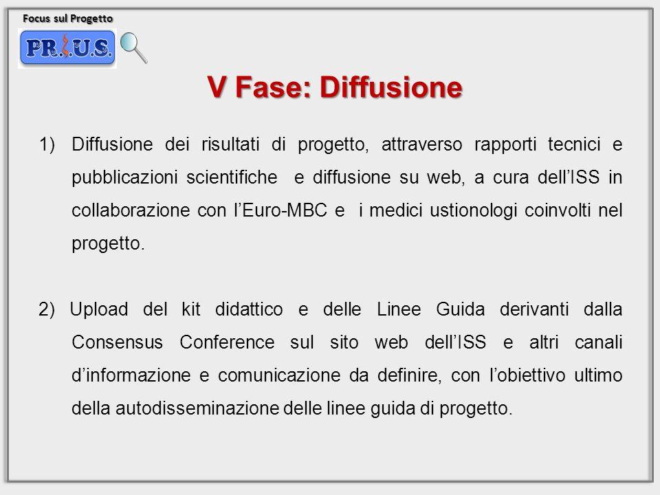 Focus sul Progetto V Fase: Diffusione.