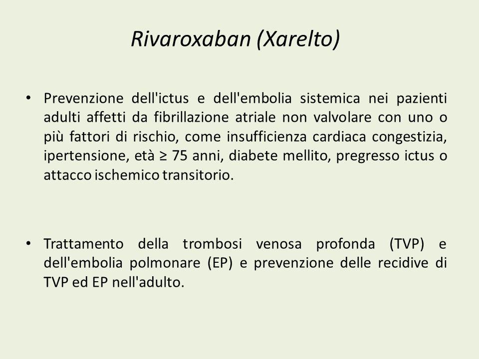 Rivaroxaban (Xarelto)
