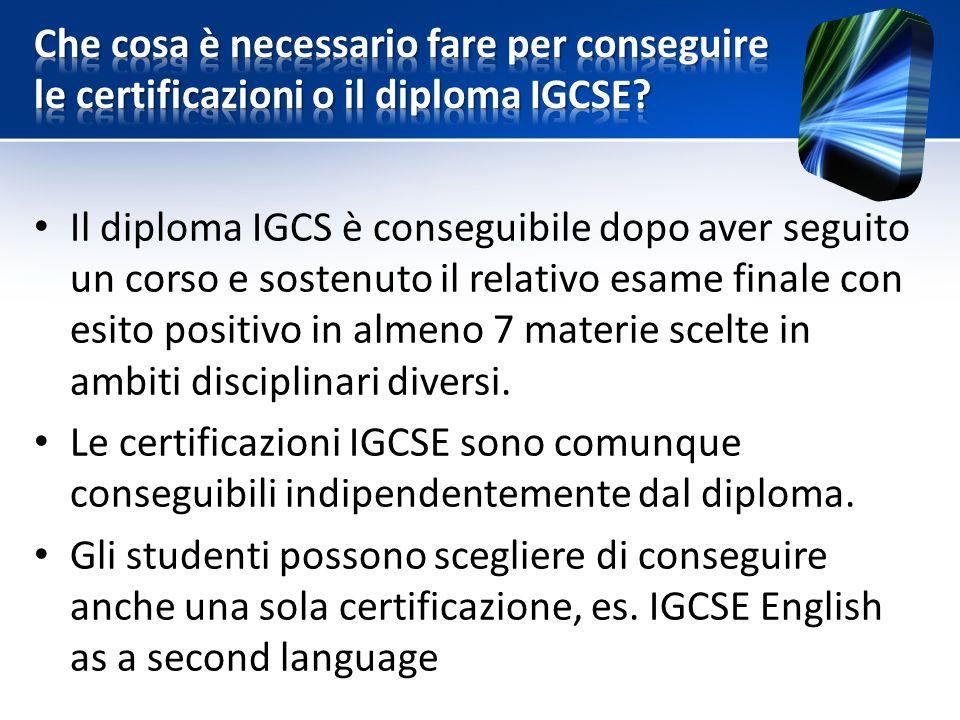 Che cosa è necessario fare per conseguire le certificazioni o il diploma IGCSE