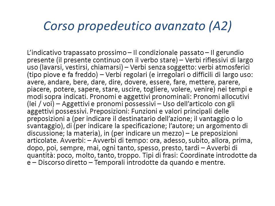 Corso propedeutico avanzato (A2)