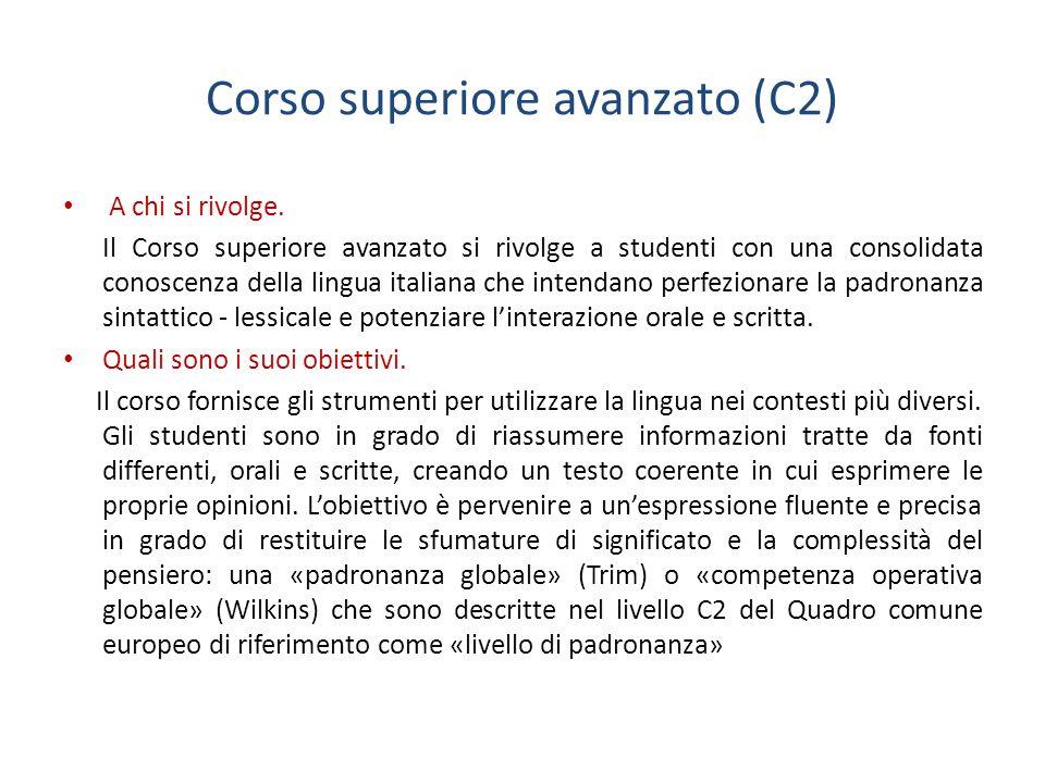 Corso superiore avanzato (C2)