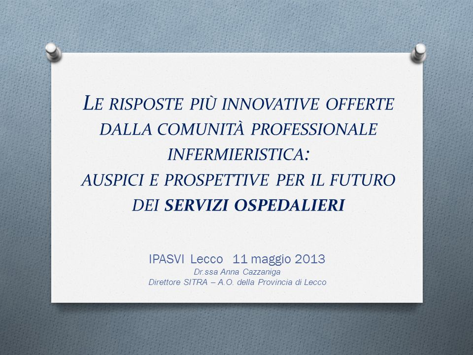 Direttore SITRA – A.O. della Provincia di Lecco