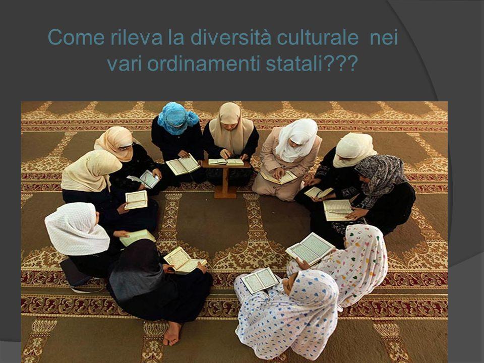 Come rileva la diversità culturale nei vari ordinamenti statali