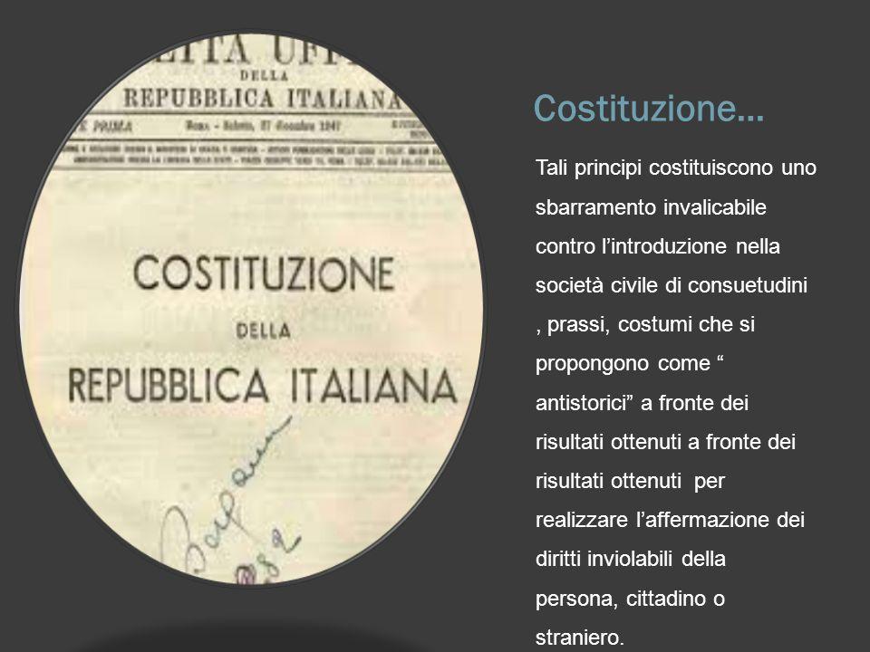 Costituzione…