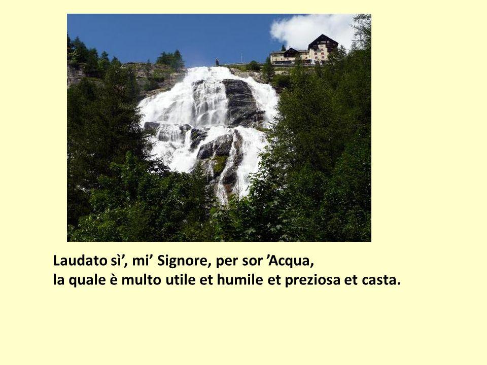 Laudato sì', mi' Signore, per sor 'Acqua, la quale è multo utile et humile et preziosa et casta.