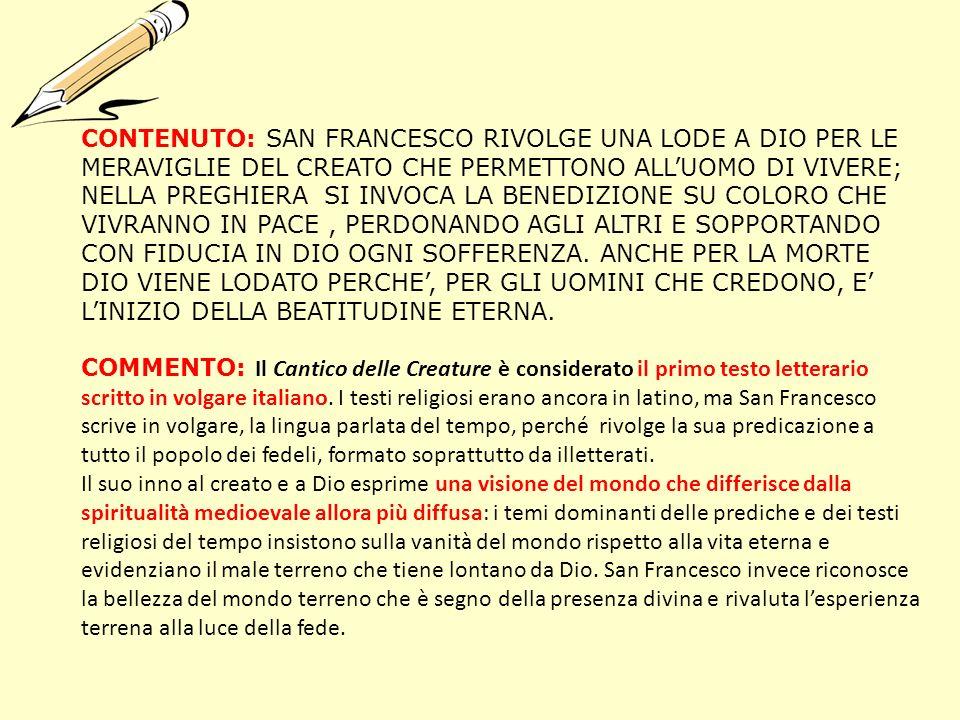 Eccezionale SAN FRANCESCO D'ASSISI E IL CANTICO DELLE CREATURE - ppt scaricare XO78