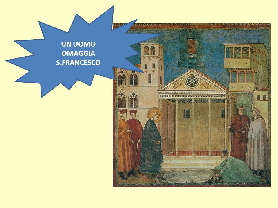 UN UOMO OMAGGIA S.FRANCESCO