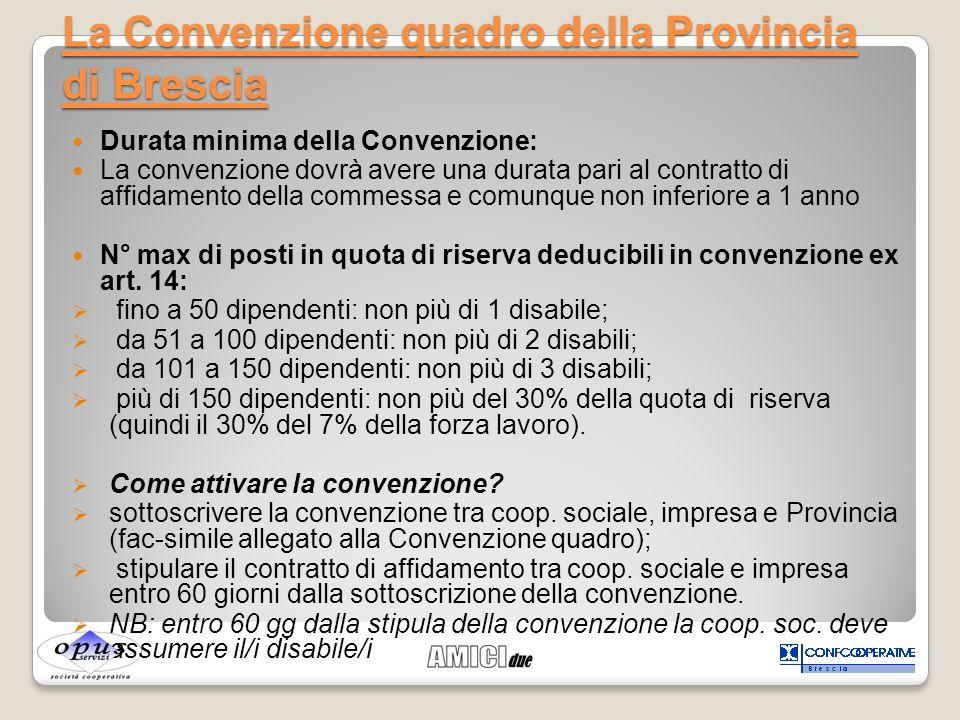 La Convenzione quadro della Provincia di Brescia