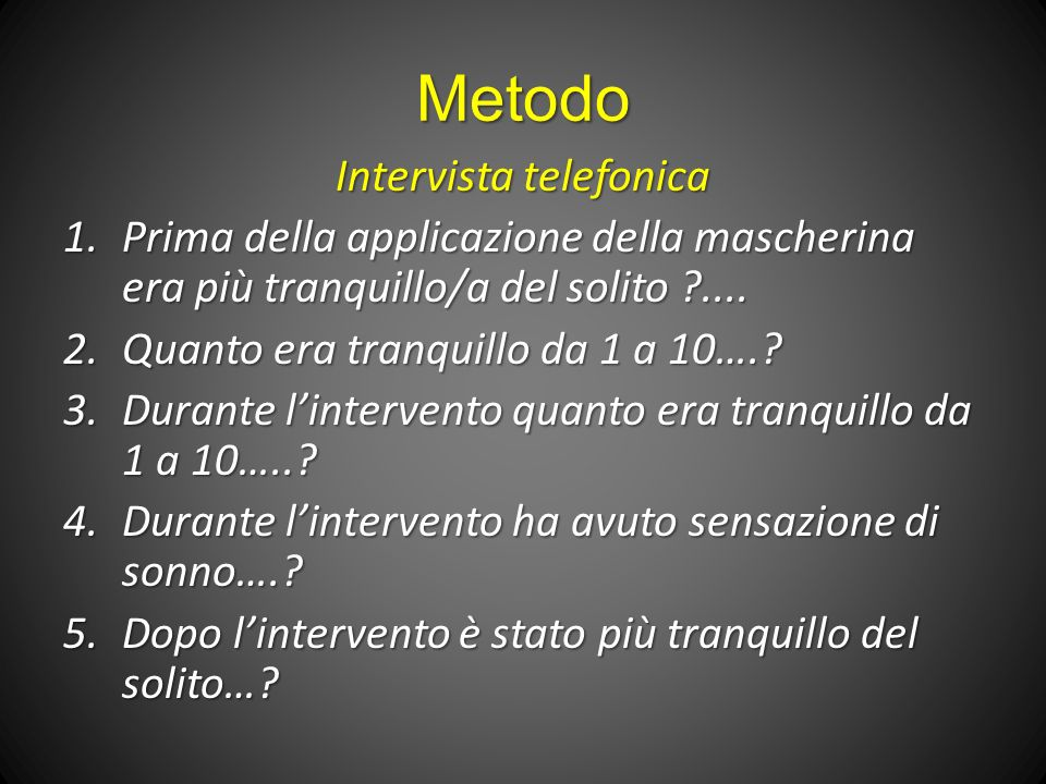 Intervista telefonica
