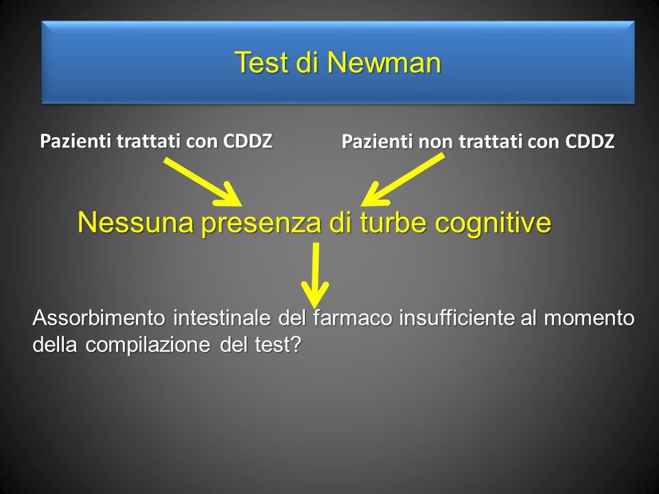Nessuna presenza di turbe cognitive
