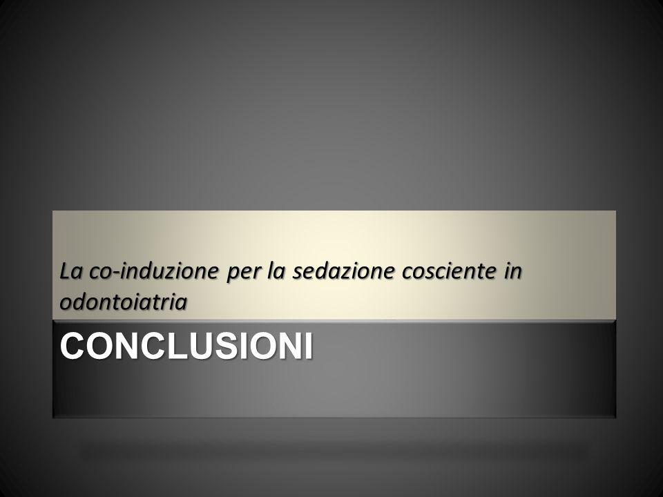 La co-induzione per la sedazione cosciente in odontoiatria