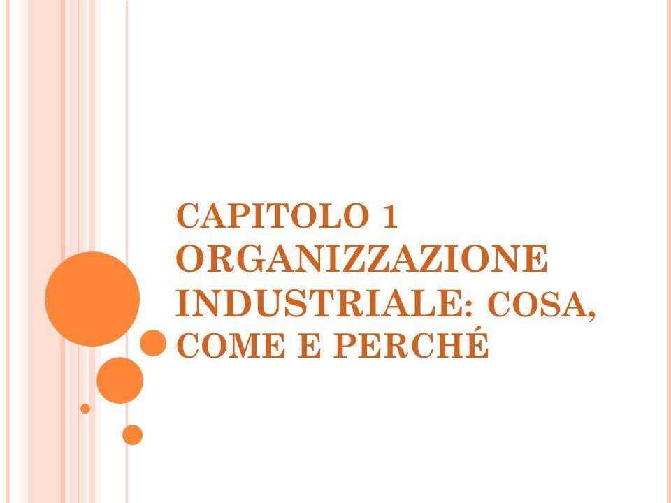 CAPITOLO 1 ORGANIZZAZIONE INDUSTRIALE: COSA, COME E PERCHÉ