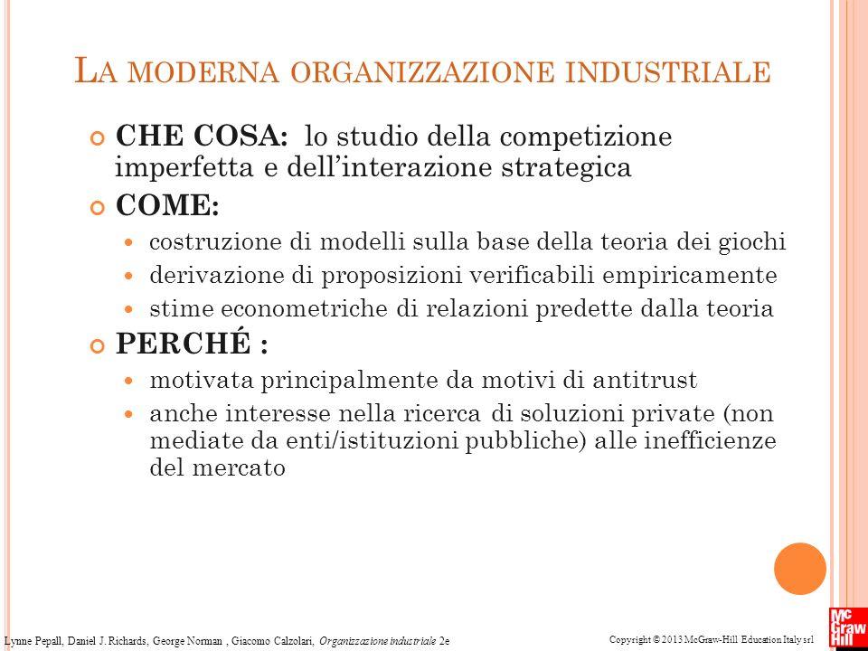 La moderna organizzazione industriale