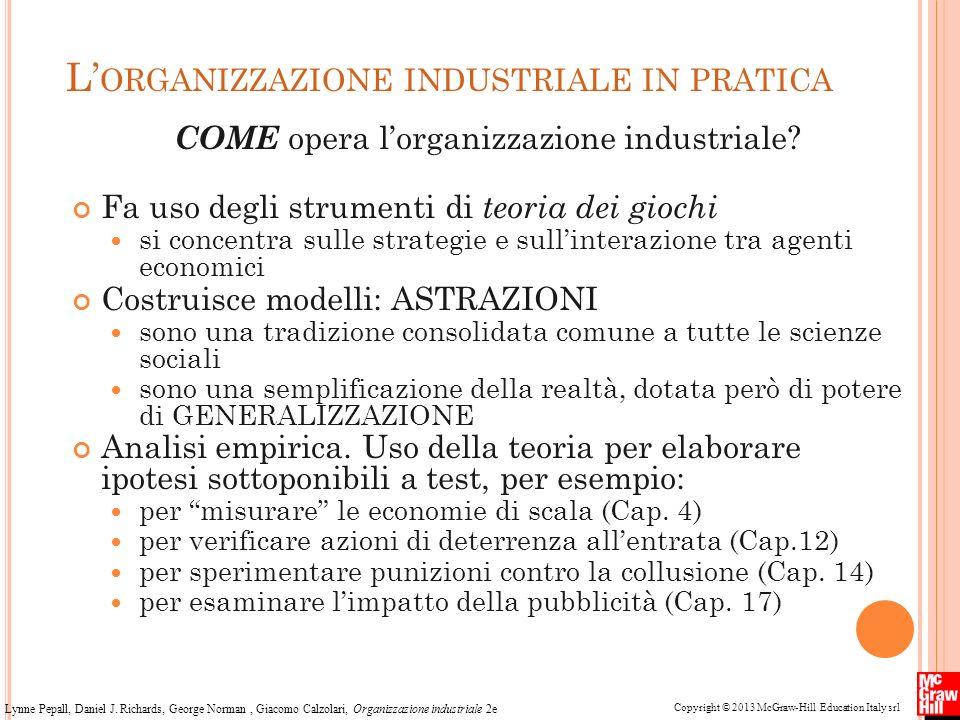 L'organizzazione industriale in pratica