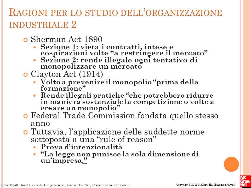 Ragioni per lo studio dell'organizzazione industriale 2