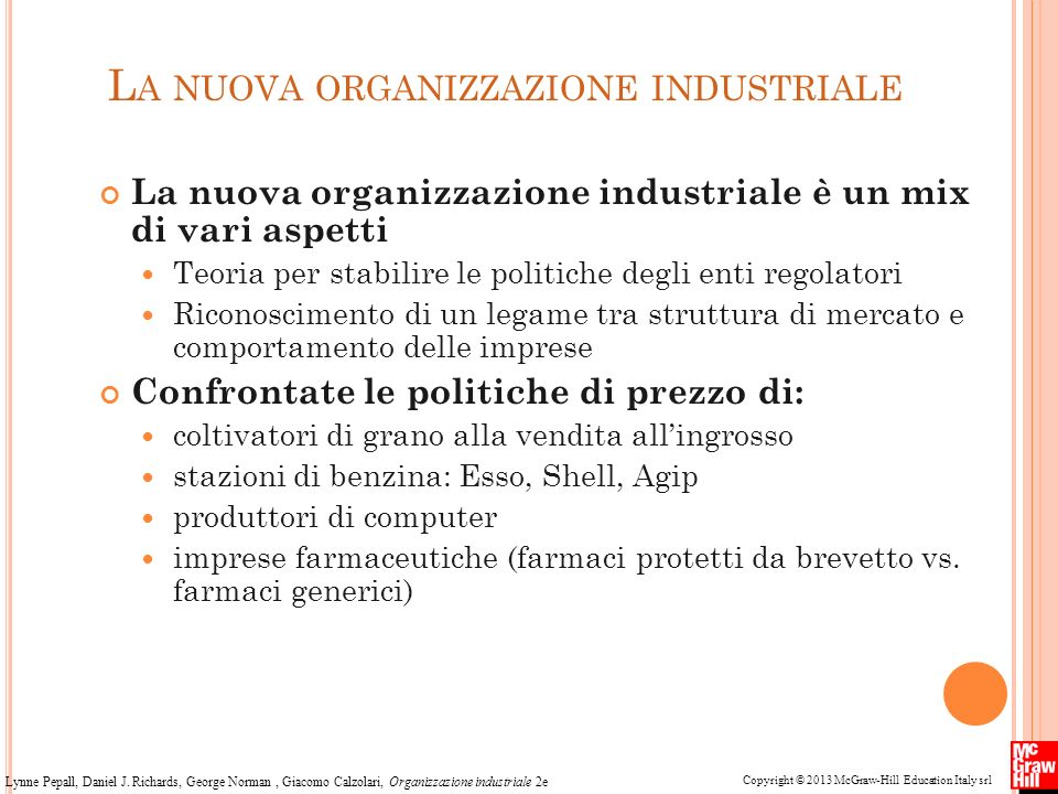 La nuova organizzazione industriale