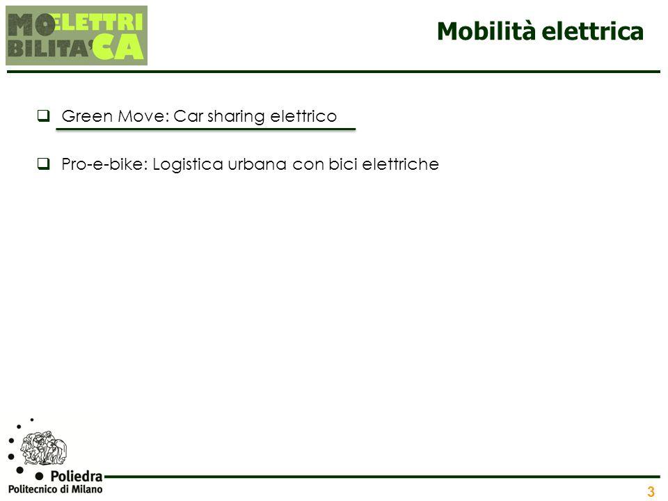 Mobilità elettrica Green Move: Car sharing elettrico