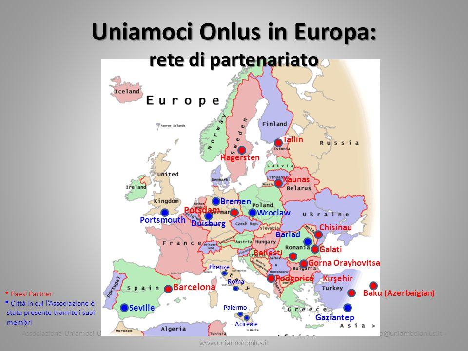 Uniamoci Onlus in Europa: rete di partenariato
