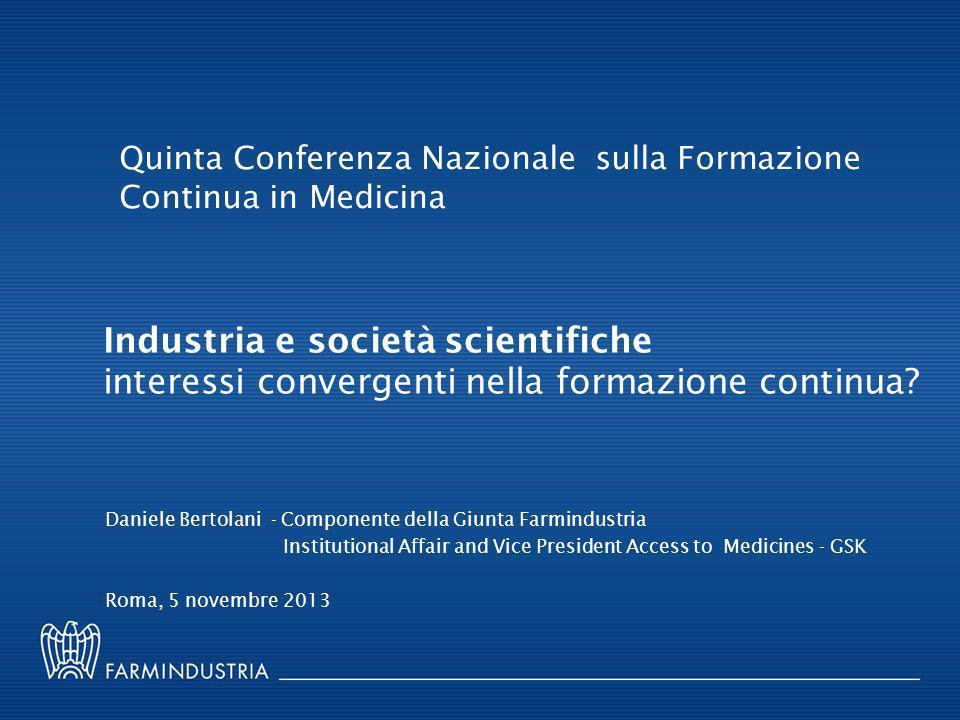 Quinta Conferenza Nazionale sulla Formazione Continua in Medicina
