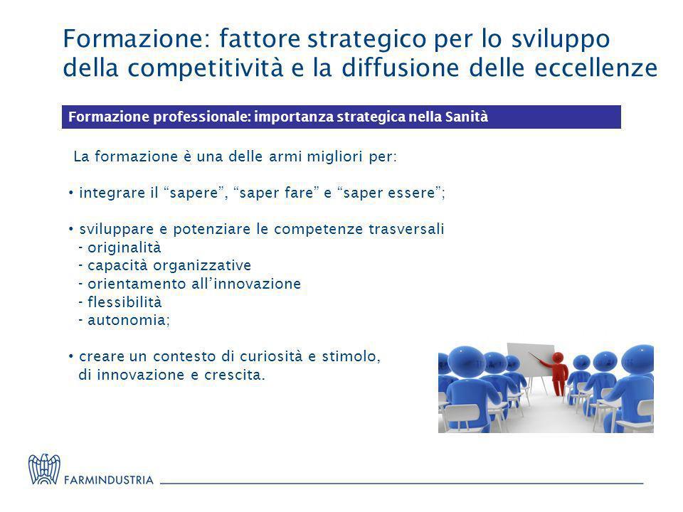 Formazione: fattore strategico per lo sviluppo della competitività e la diffusione delle eccellenze