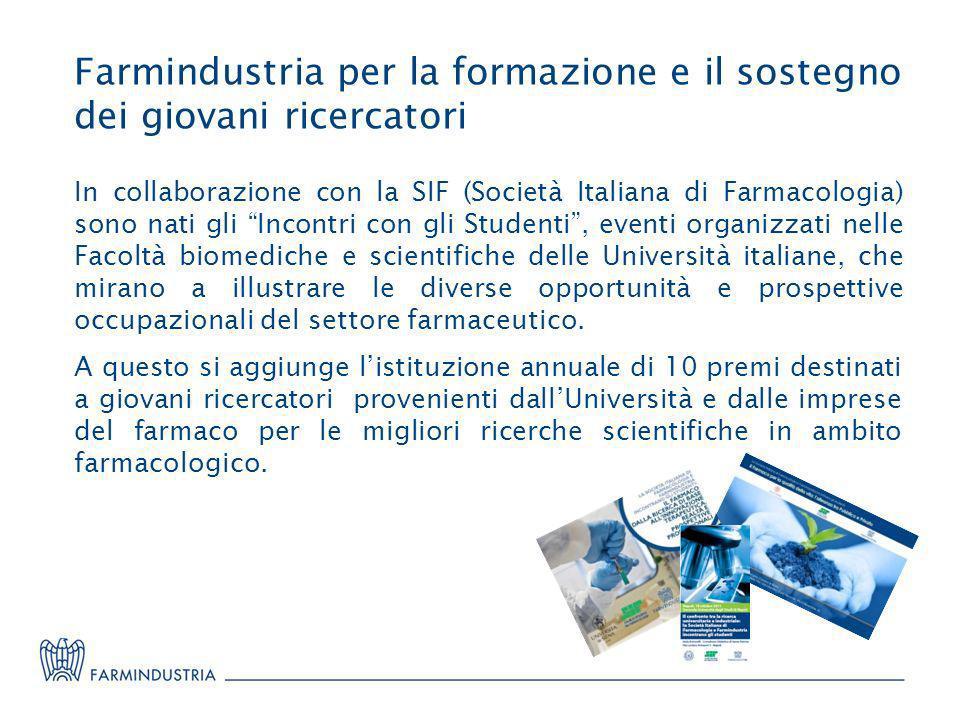Farmindustria per la formazione e il sostegno dei giovani ricercatori