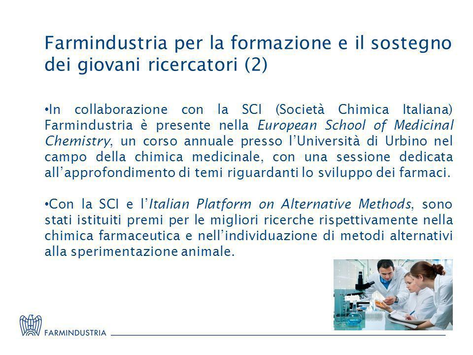 Farmindustria per la formazione e il sostegno dei giovani ricercatori (2)