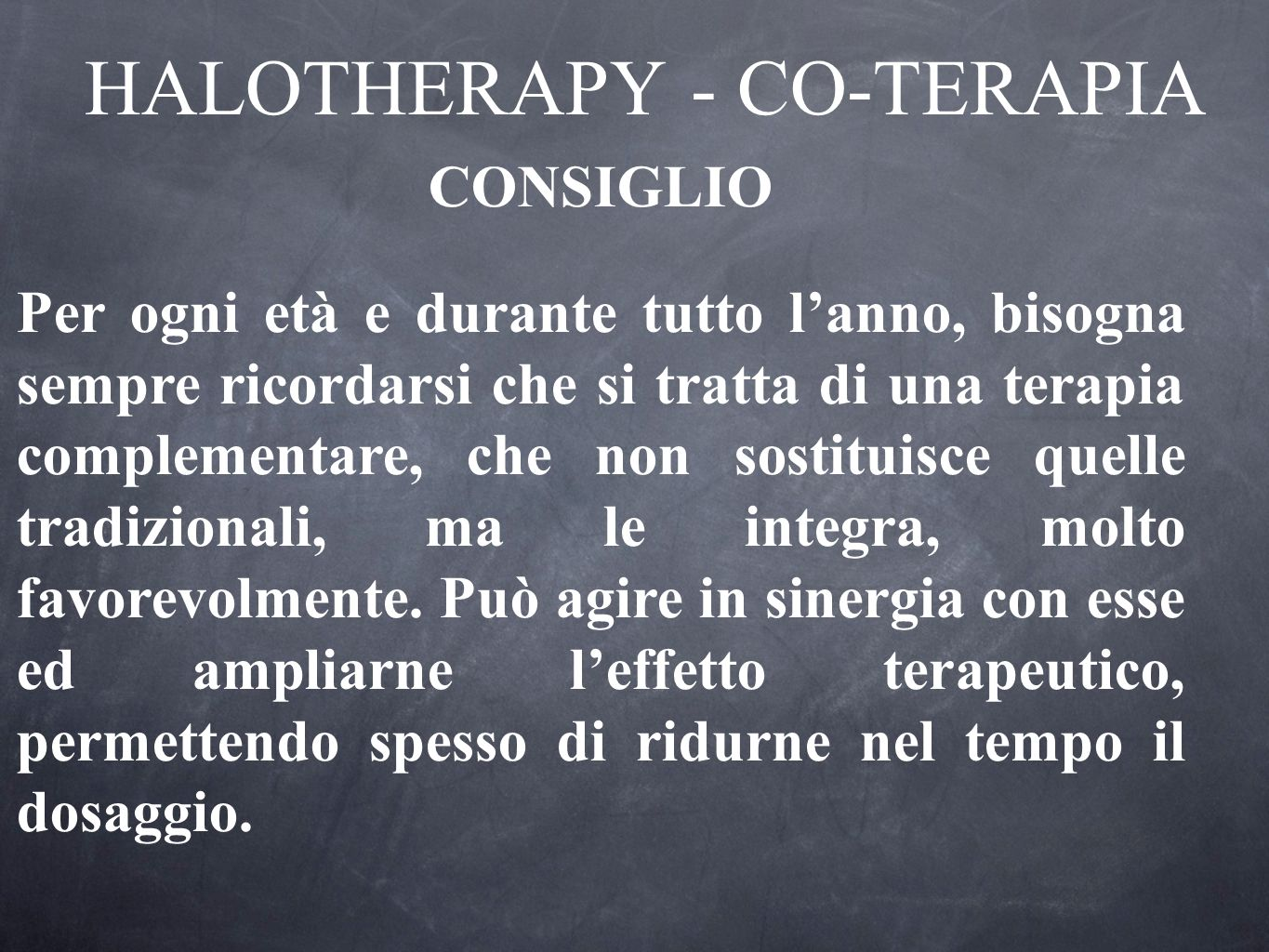 HALOTHERAPY - CO-TERAPIA