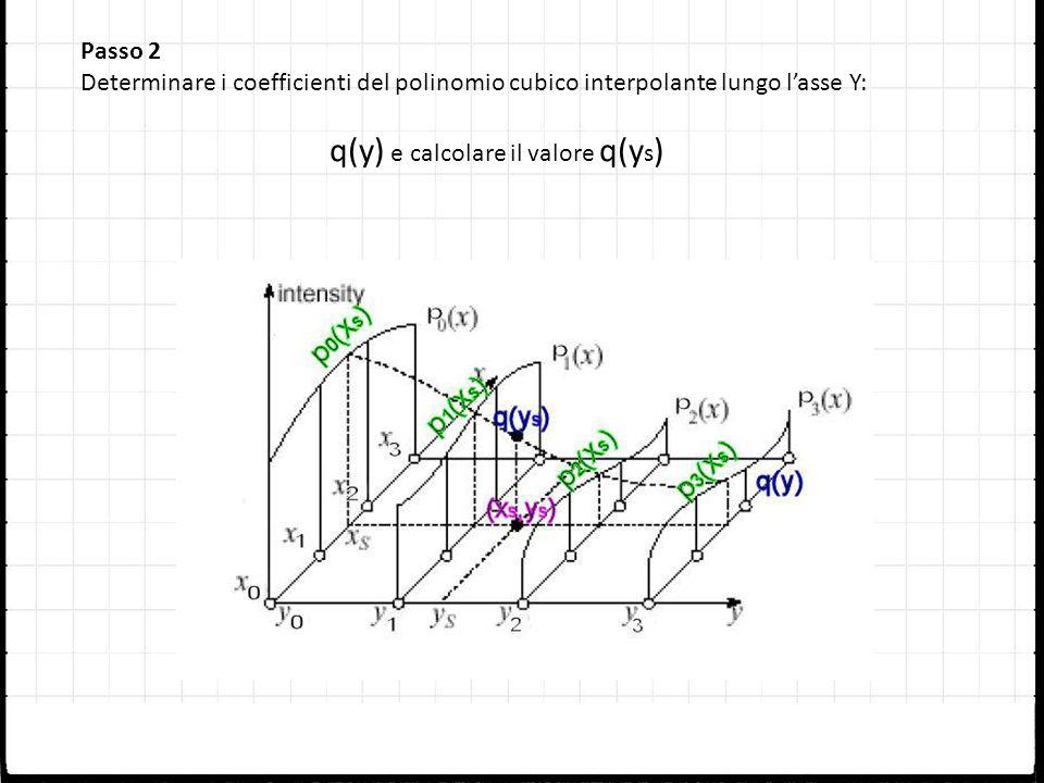 q(y) e calcolare il valore q(ys)