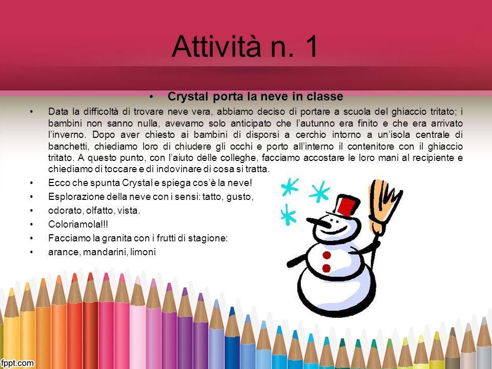 Crystal porta la neve in classe