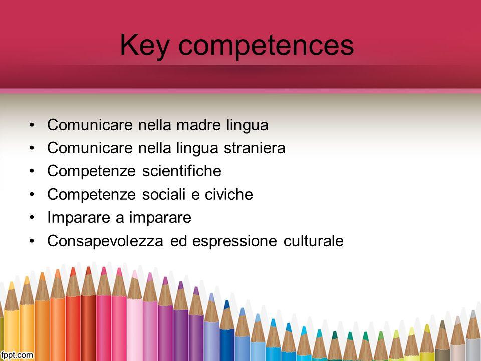 Key competences Comunicare nella madre lingua