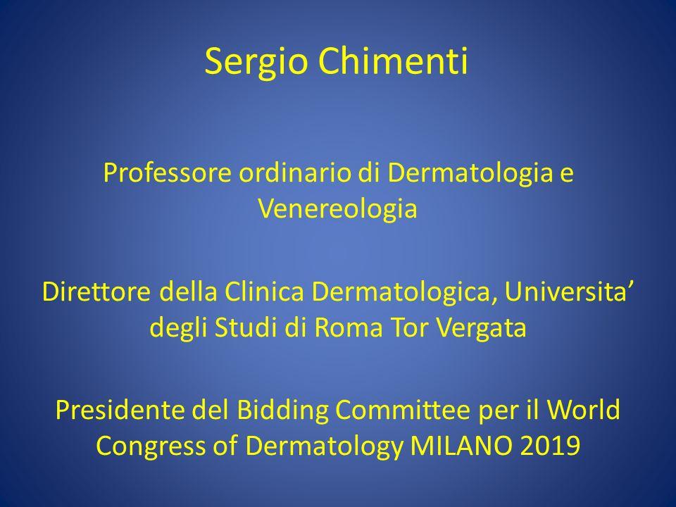 Professore ordinario di Dermatologia e Venereologia