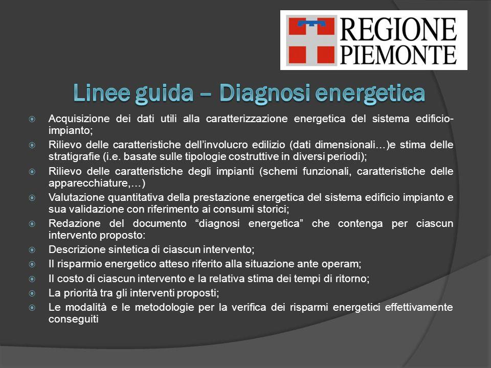 Linee guida – Diagnosi energetica