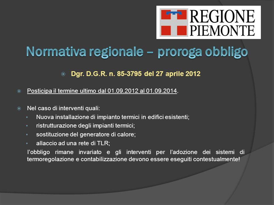 Normativa regionale – proroga obbligo