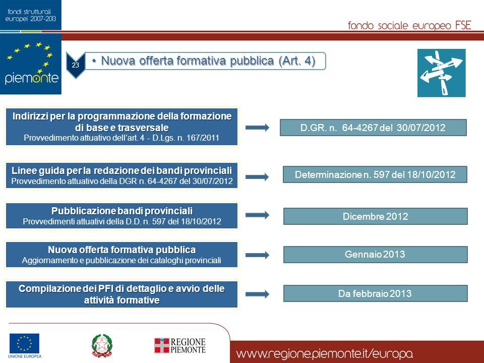 Nuova offerta formativa pubblica (Art. 4)