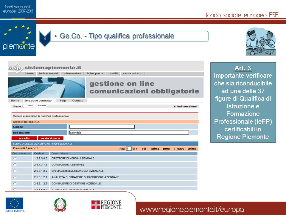 Ge.Co. - Tipo qualifica professionale