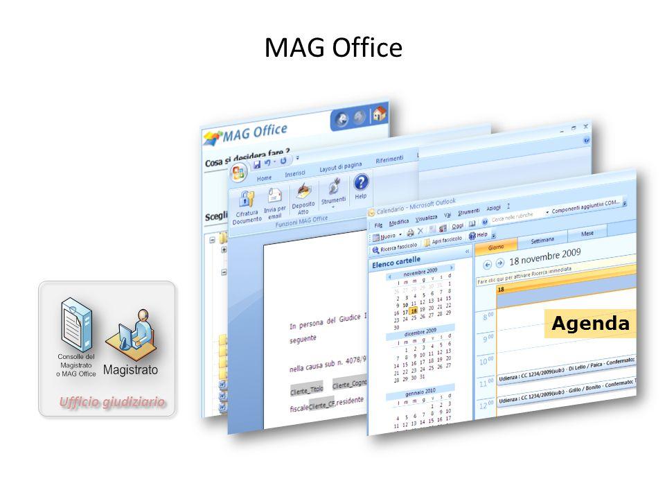 MAG Office Ufficio giudiziario Agenda