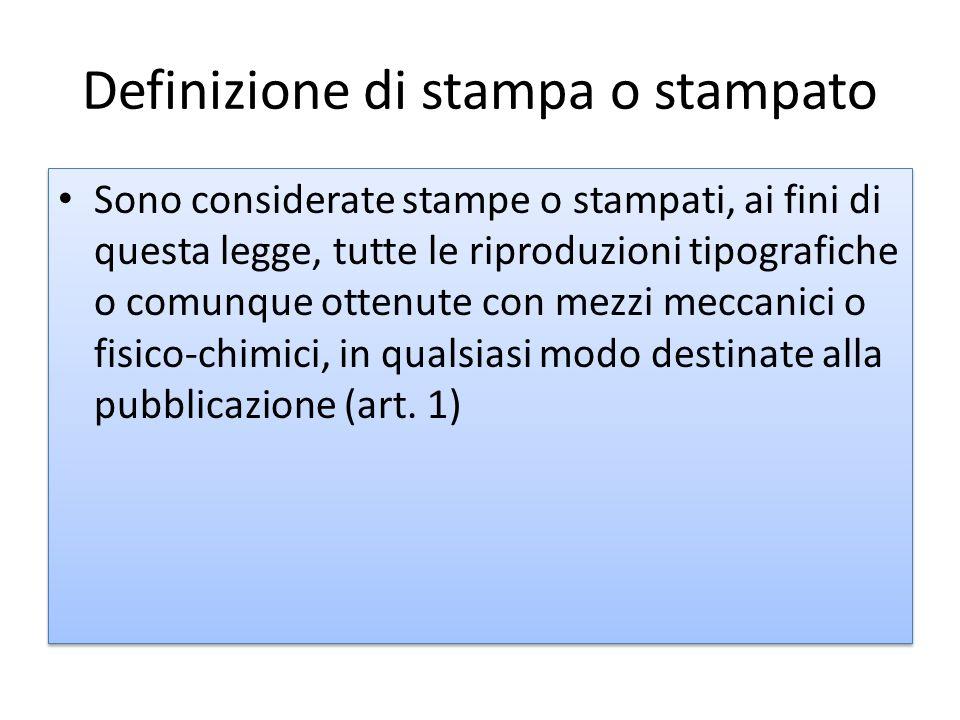 Definizione di stampa o stampato
