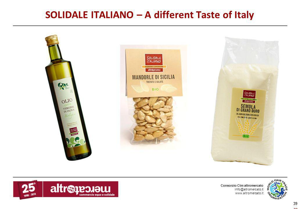 SOLIDALE ITALIANO – A different Taste of Italy